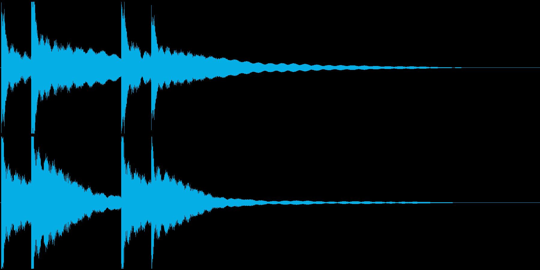 カーンカーン 西洋の鐘の音2の再生済みの波形