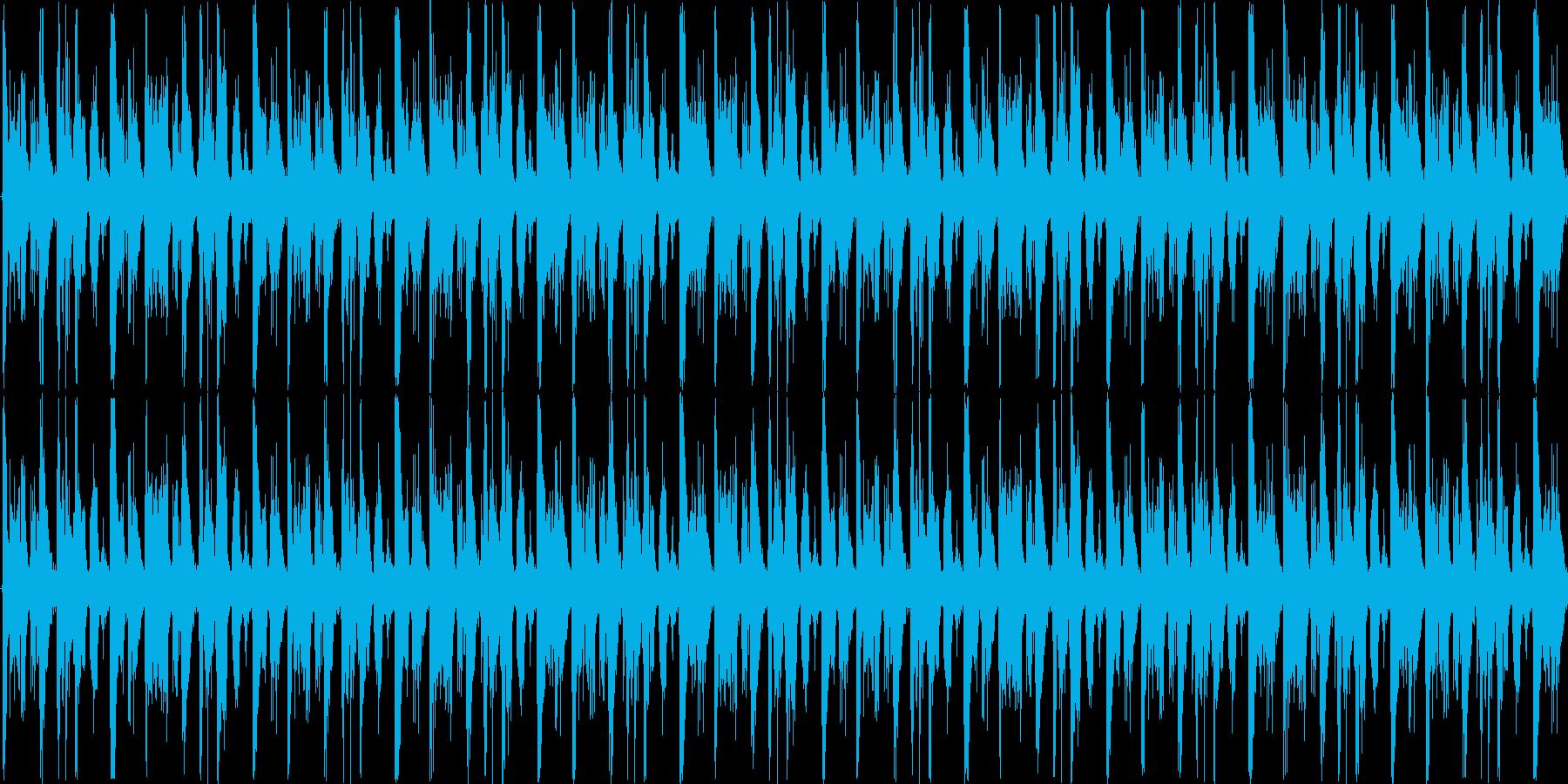 ハイテンポで次々物事が展開する-ループ可の再生済みの波形