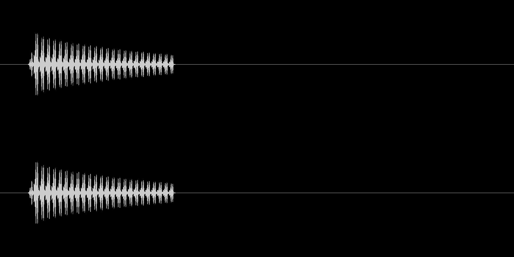ブー(選択不可音)の未再生の波形