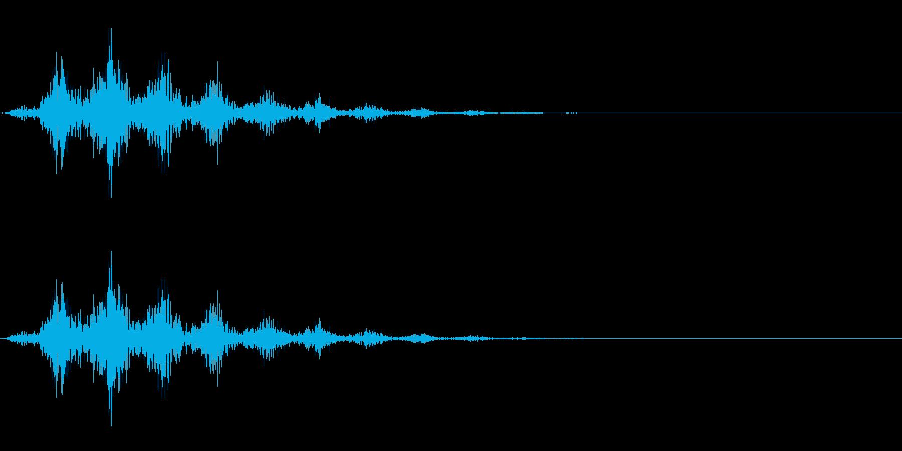 回転音/手裏剣/シュルルルルッの再生済みの波形