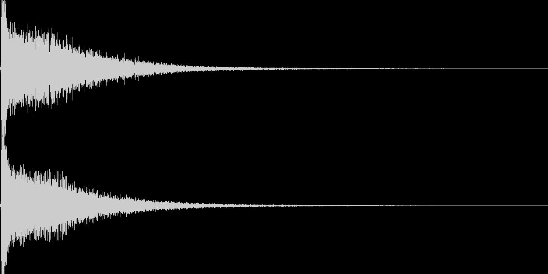 ロールの閉めのシンバルの未再生の波形