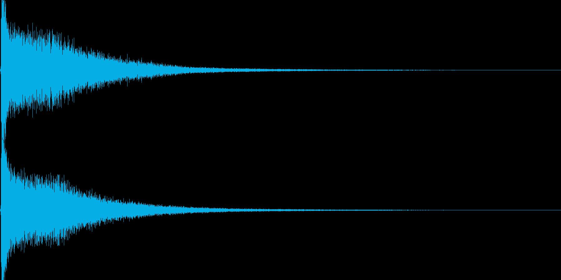 ロールの閉めのシンバルの再生済みの波形