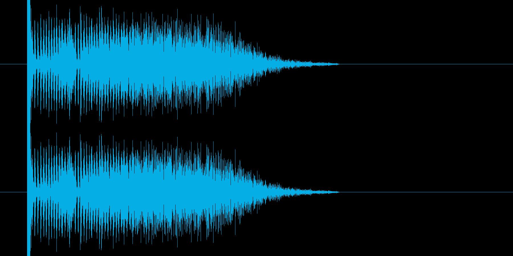 ボカーン ドカーン な爆発音になりますの再生済みの波形