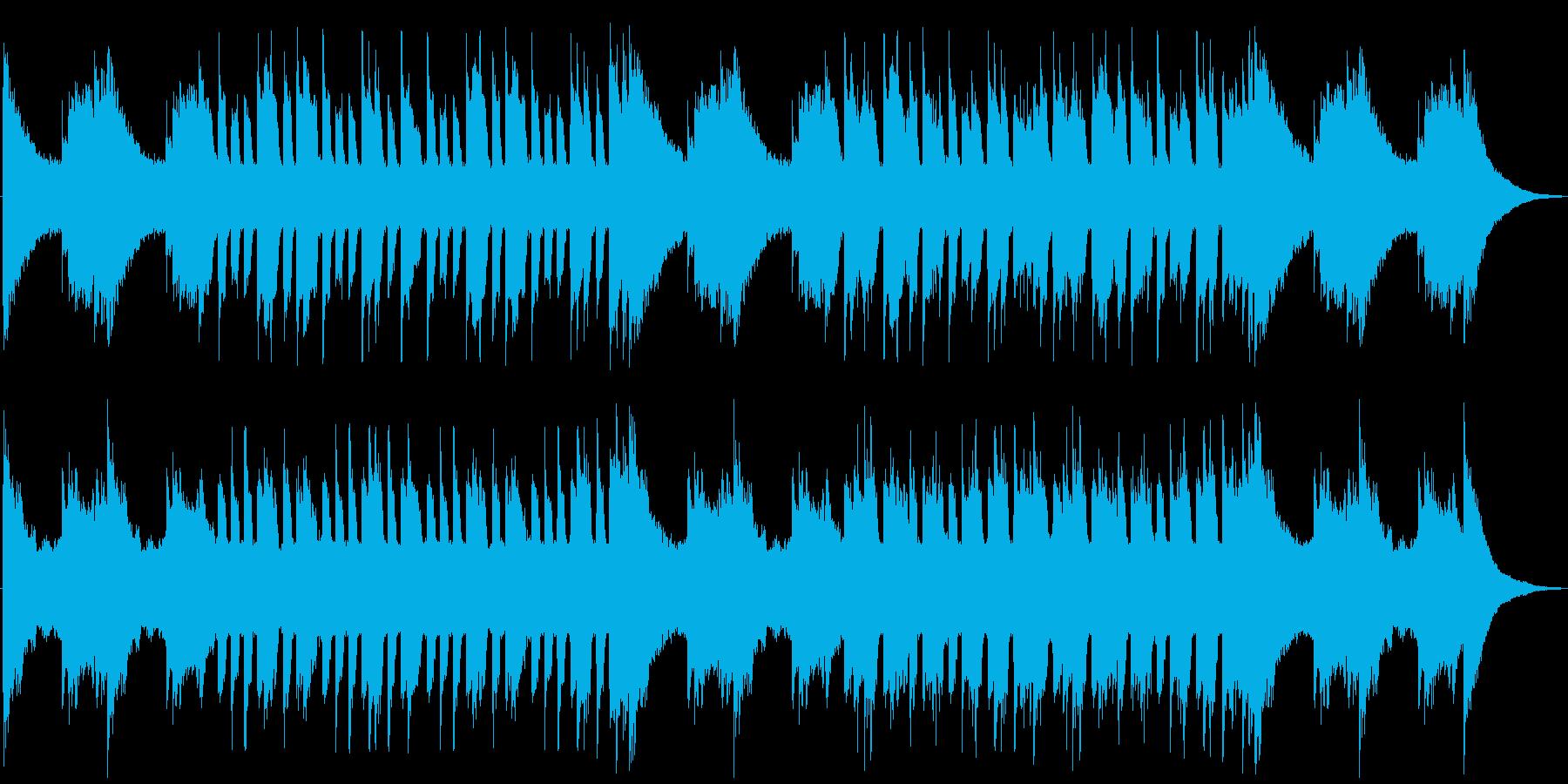 緊張感あるピアノBGMの再生済みの波形