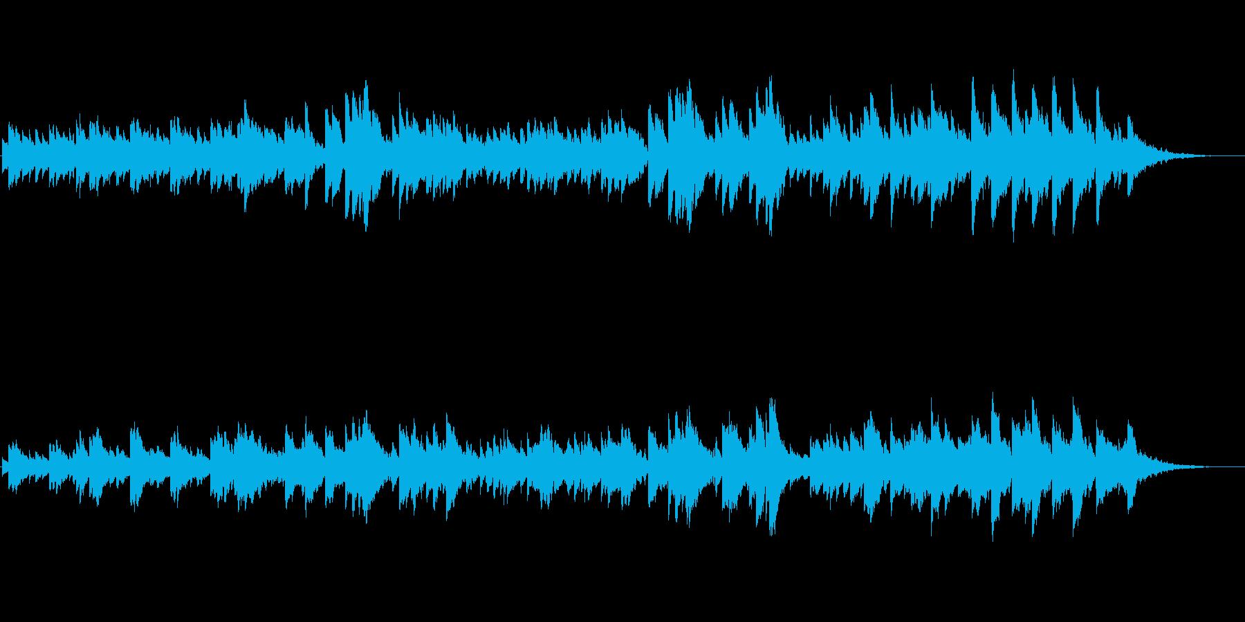 子守歌をイメージした幻想的なオルゴールの再生済みの波形