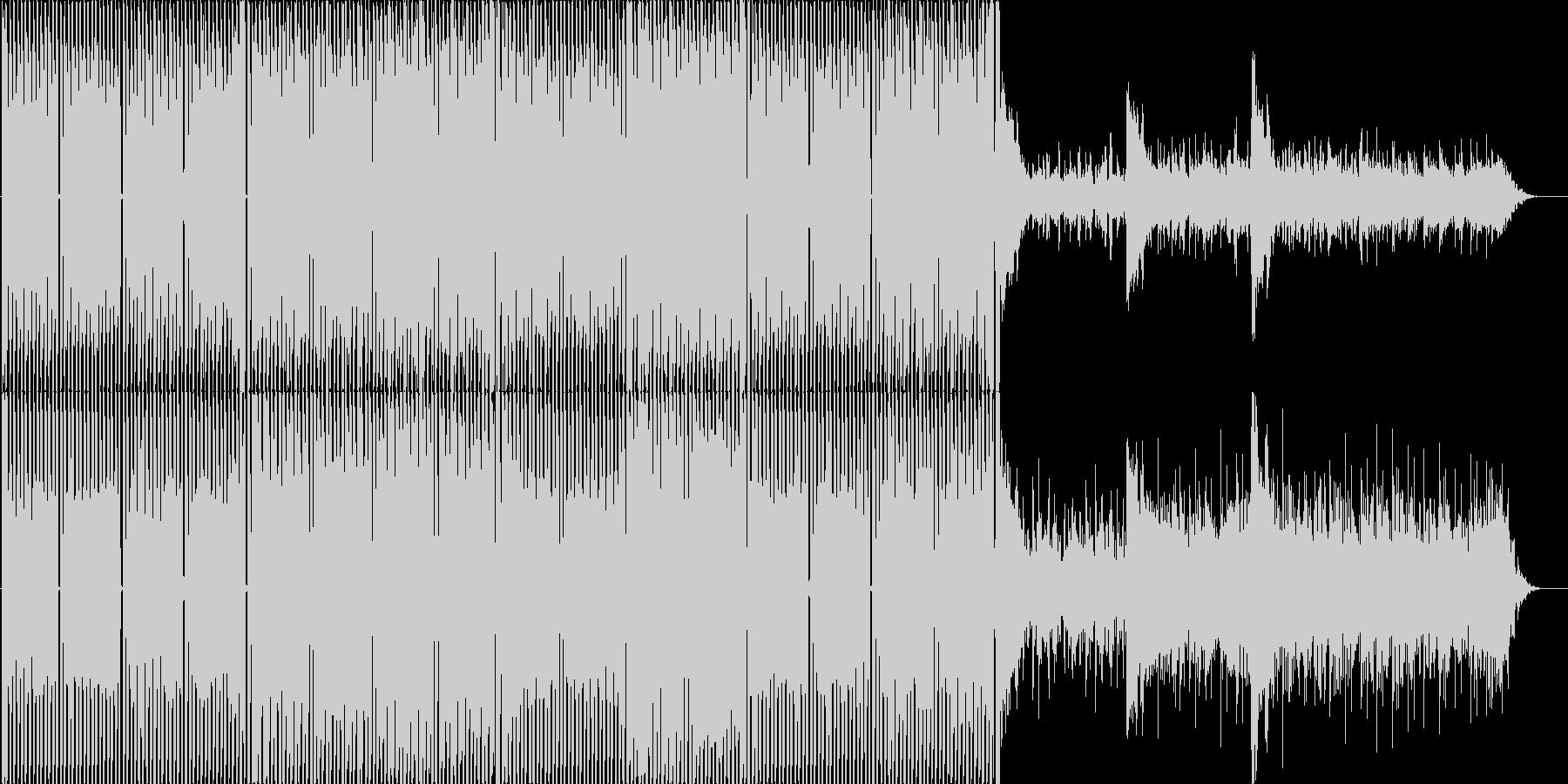 疾走感ある四つ打ちエレクトロの未再生の波形