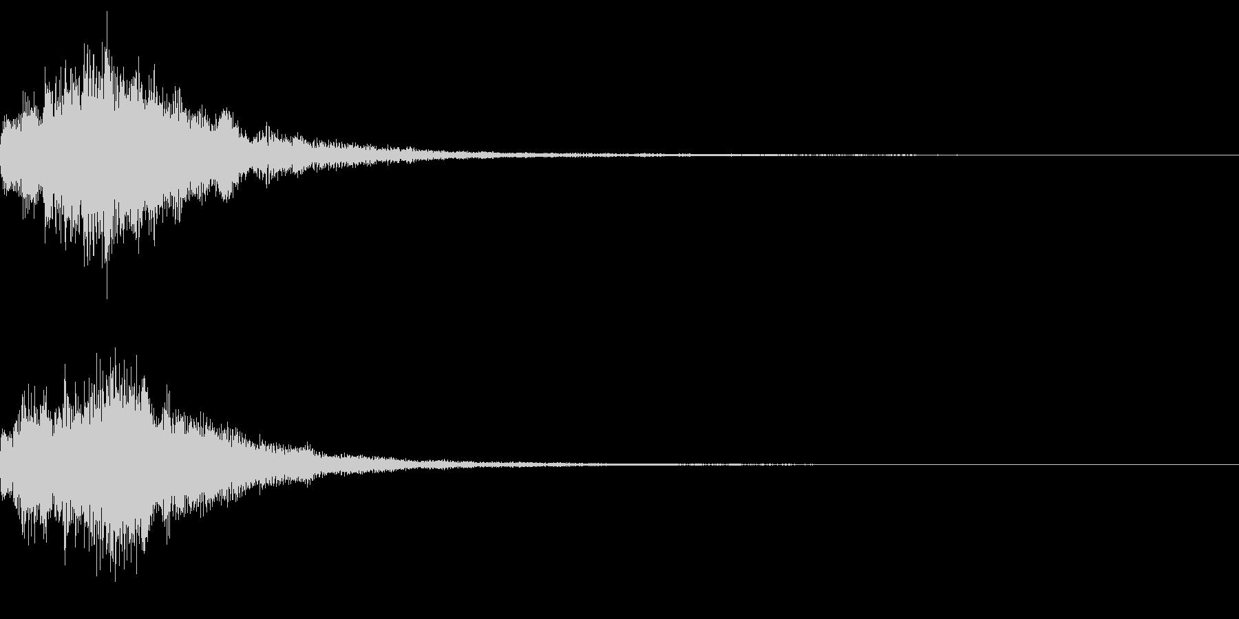 謎めいた音の未再生の波形