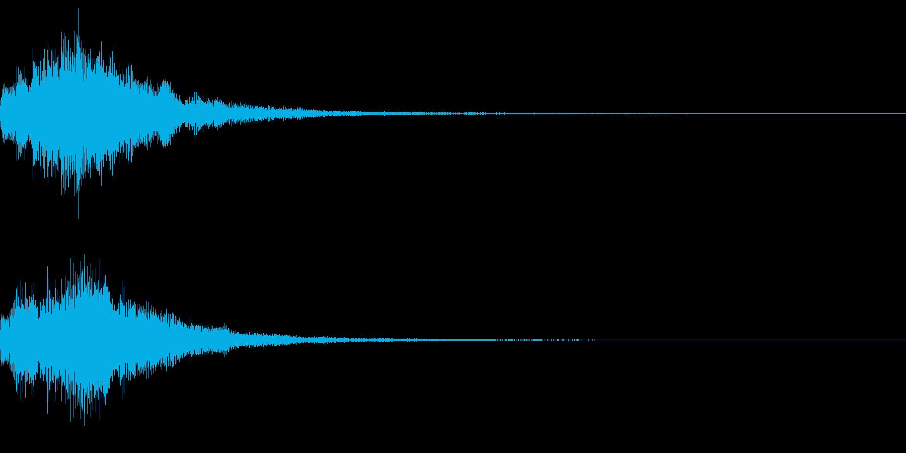 謎めいた音の再生済みの波形