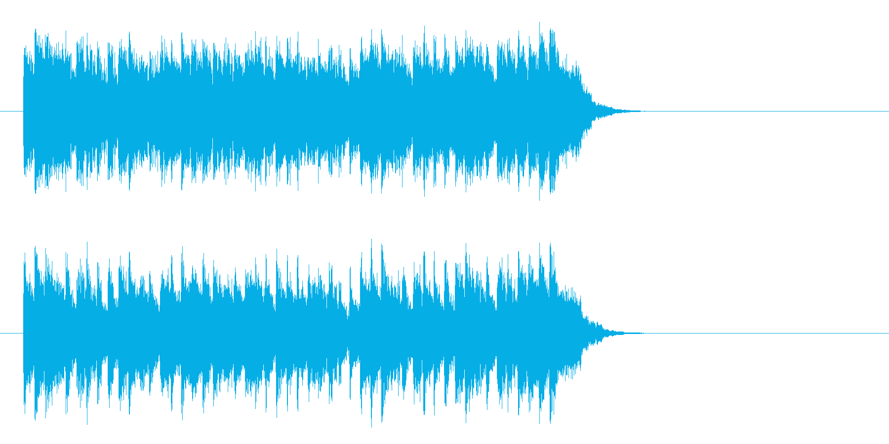 活力を与える暖かなポップ(サビ)の再生済みの波形