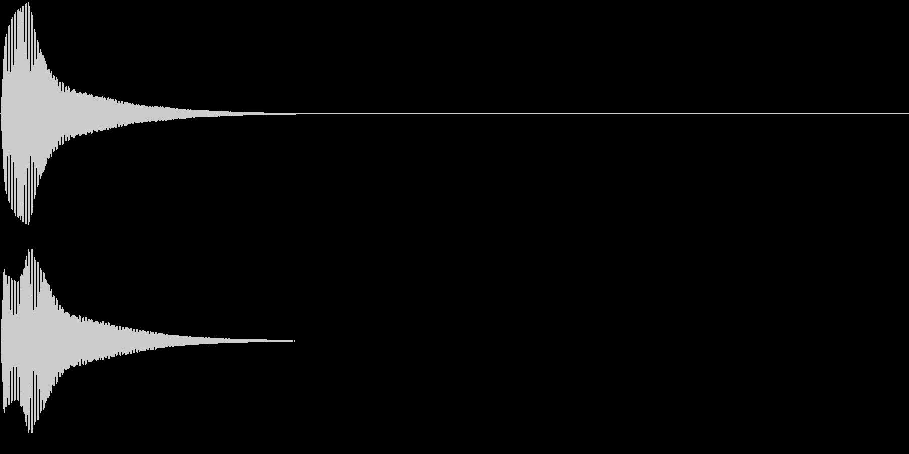 PureTouch アプリ用タッチ音28の未再生の波形