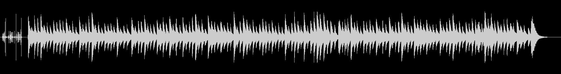 クラシック調の優しい子守唄(オルゴール)の未再生の波形