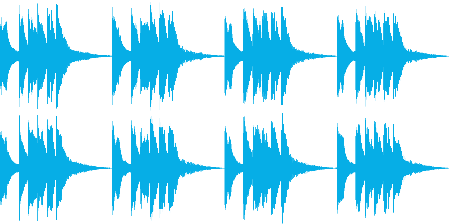 シンプル ベル 着信音 チャイム B10の再生済みの波形