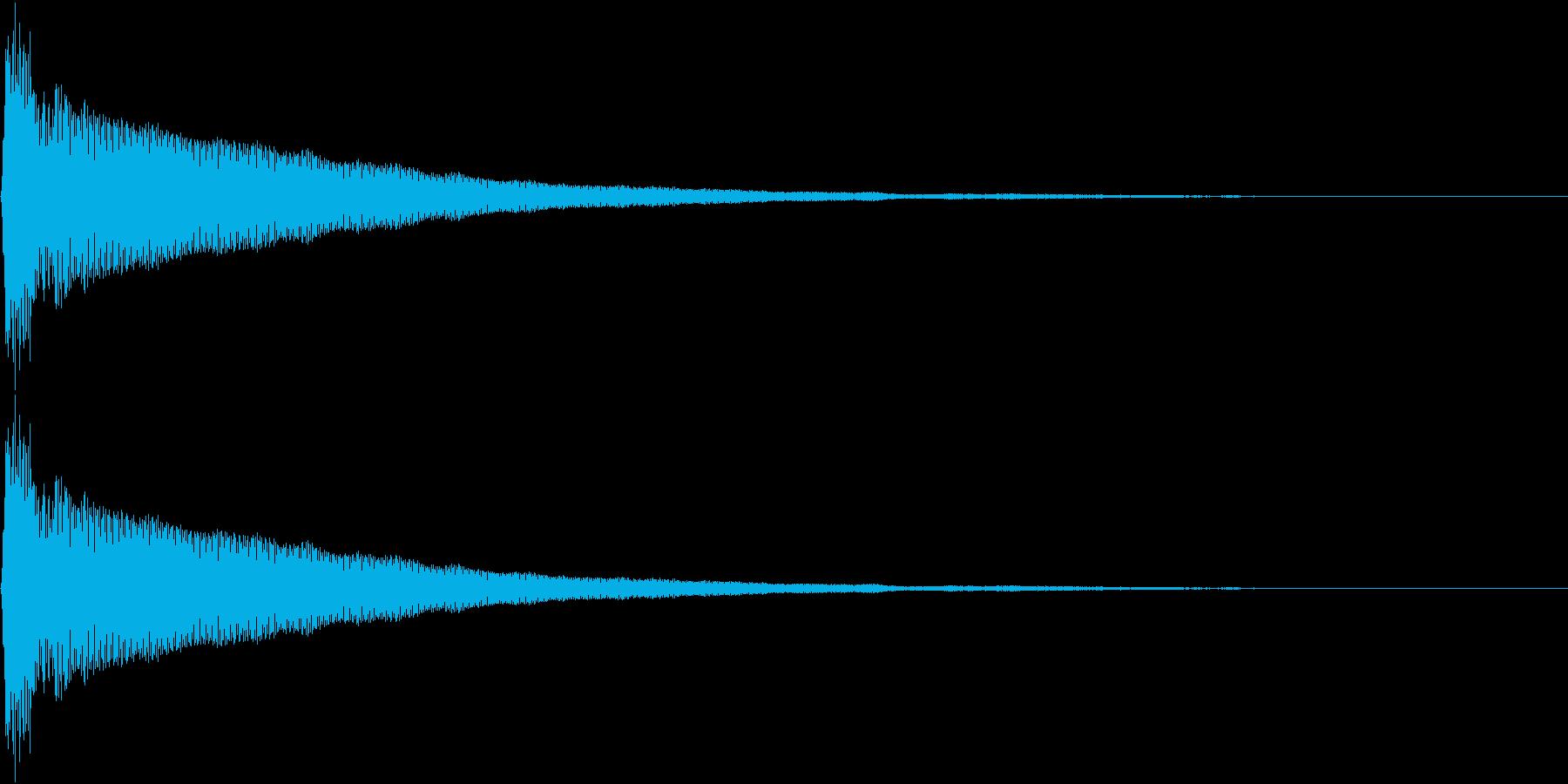 ひらめいた時に鳴るような音の再生済みの波形