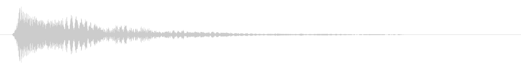 クリックの音(短め)の未再生の波形