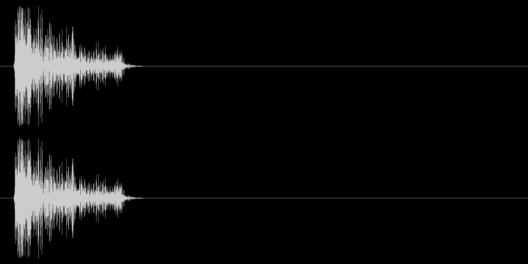 チープなシンバルで作ったクリックの未再生の波形
