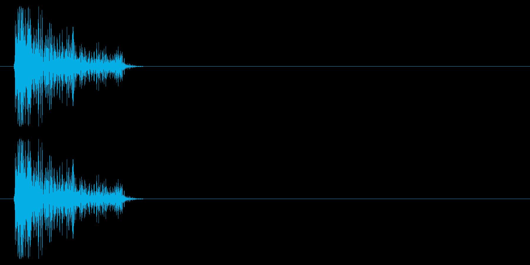 チープなシンバルで作ったクリックの再生済みの波形