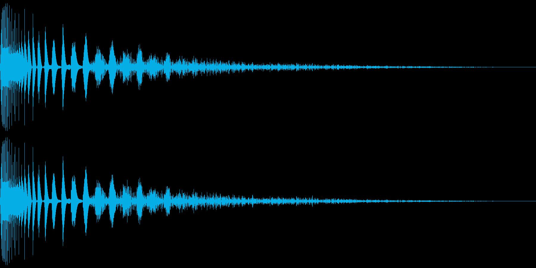 DTM Snare 7 オリジナル音源の再生済みの波形