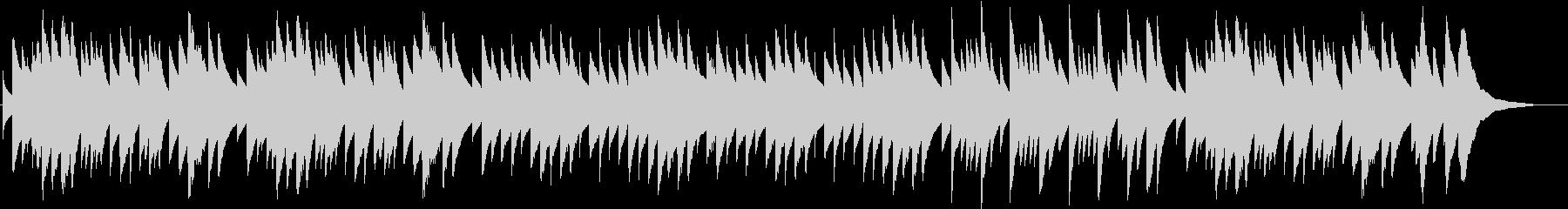 クリスマス定番曲のオルゴールバージョンの未再生の波形