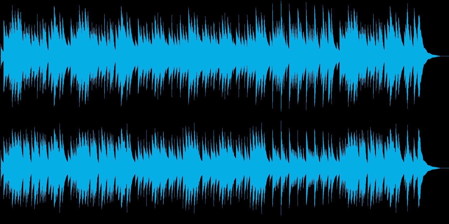 クリスマス定番曲のオルゴールバージョンの再生済みの波形