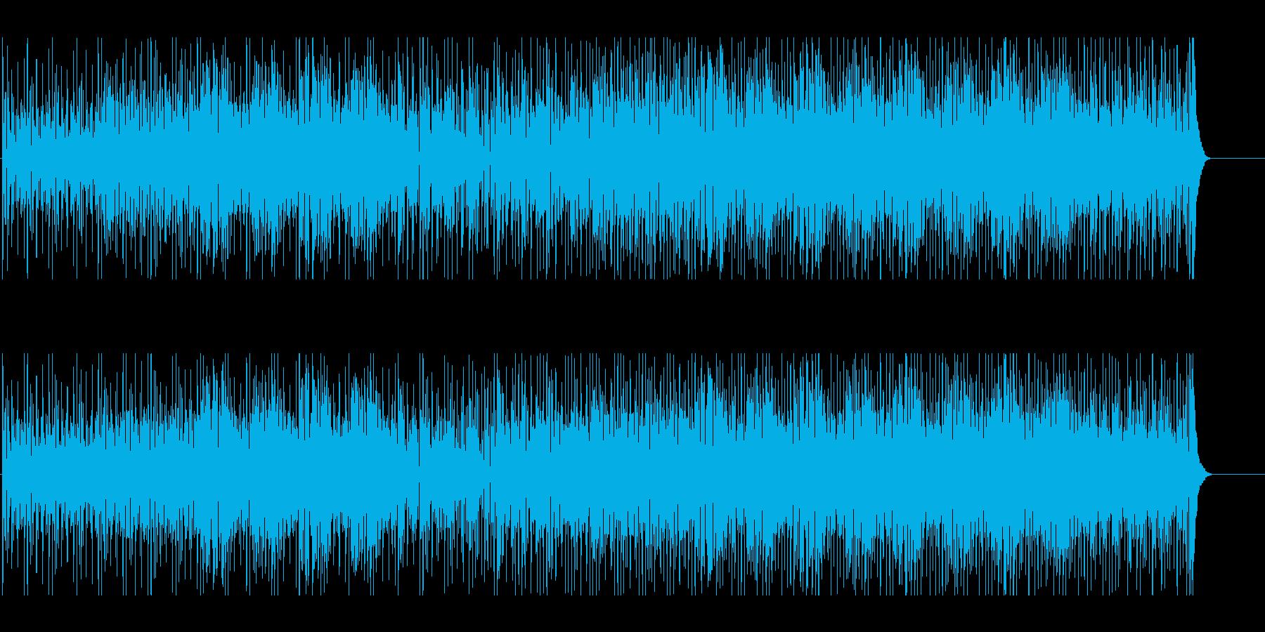 にぎやか あやしい けだるい かわいいの再生済みの波形