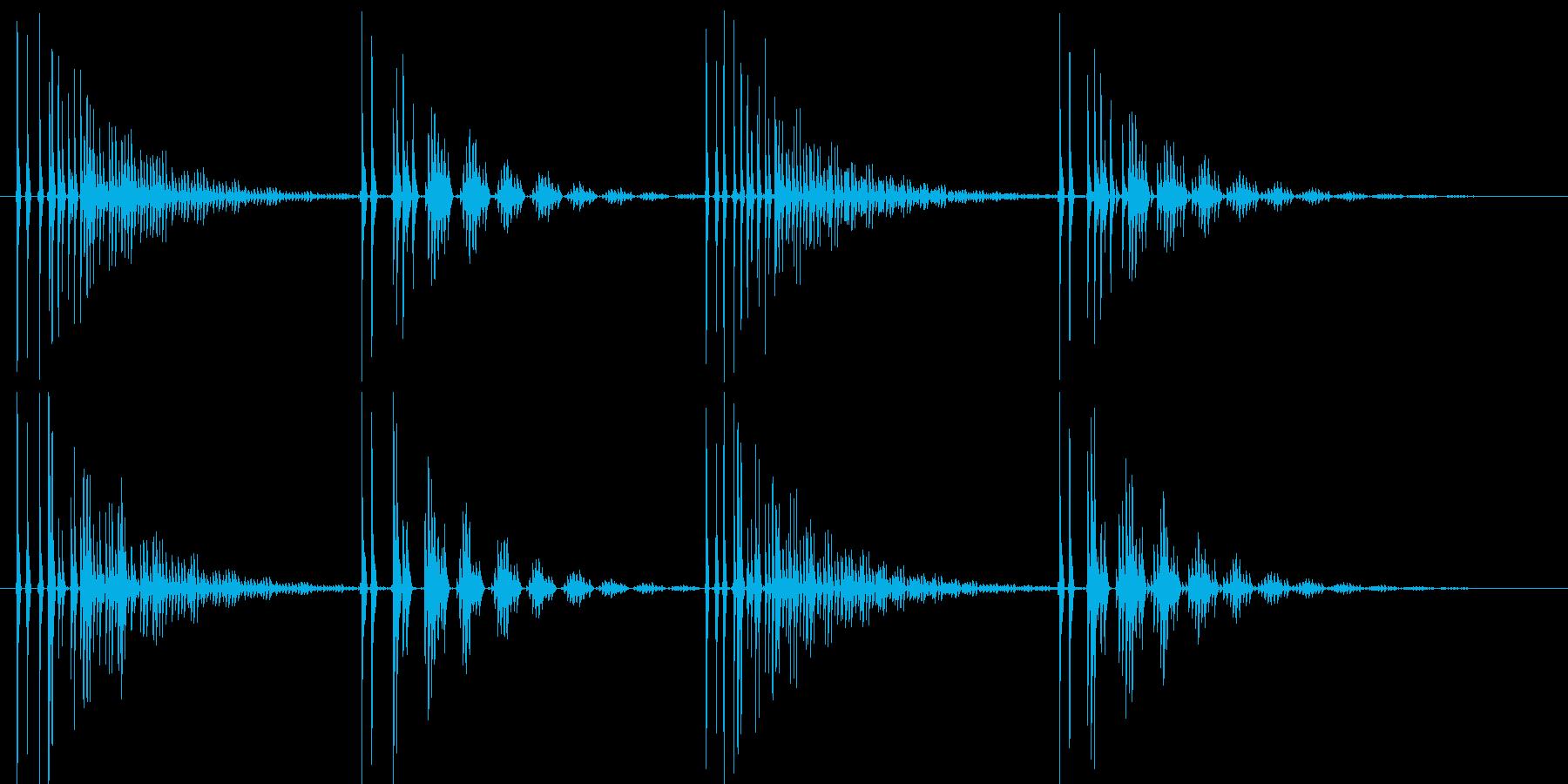 不安感や時間経過を演出するエコーの再生済みの波形