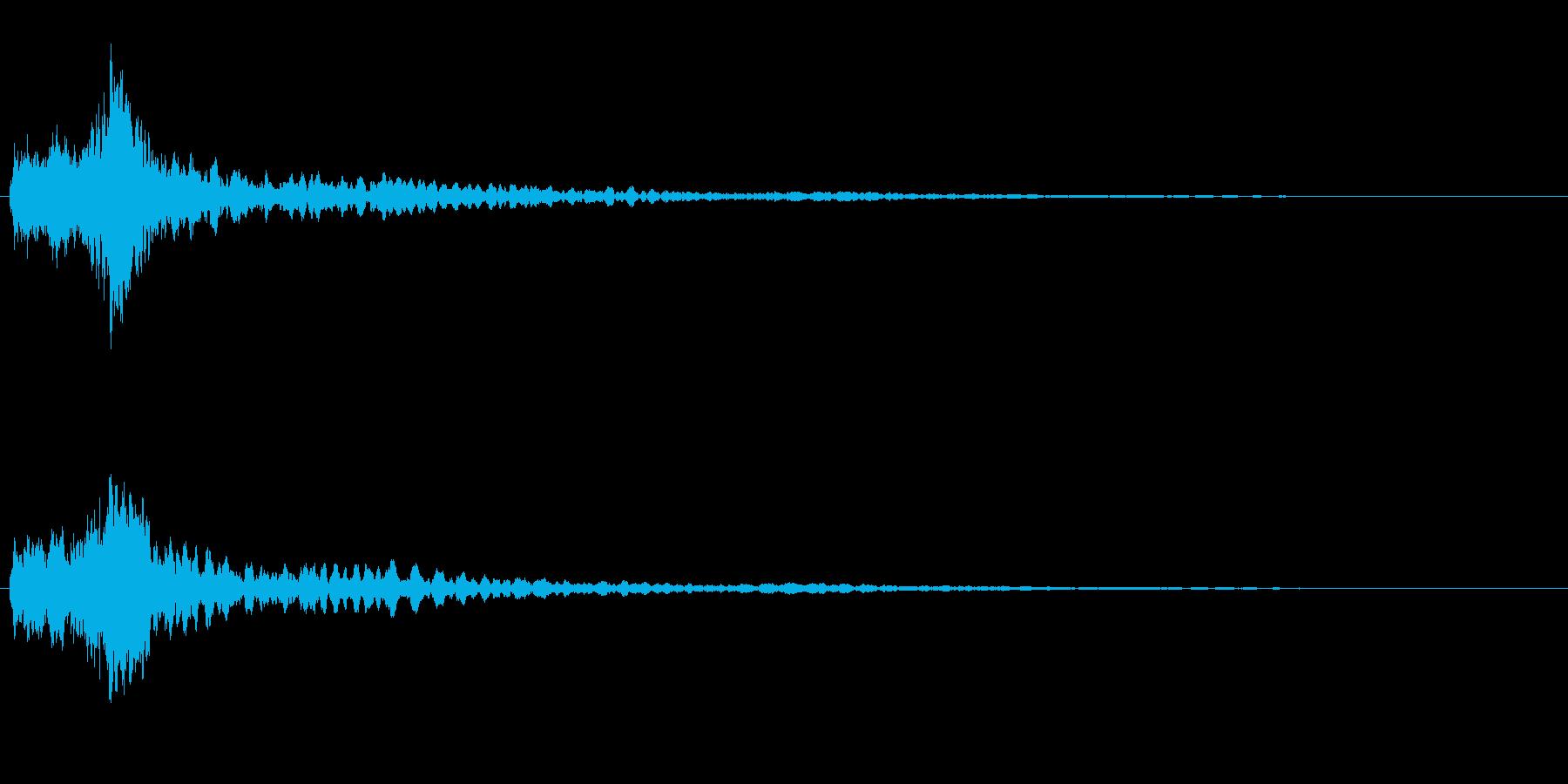 サスペンスに最適!ピアノの弦を弄ぶ音49の再生済みの波形