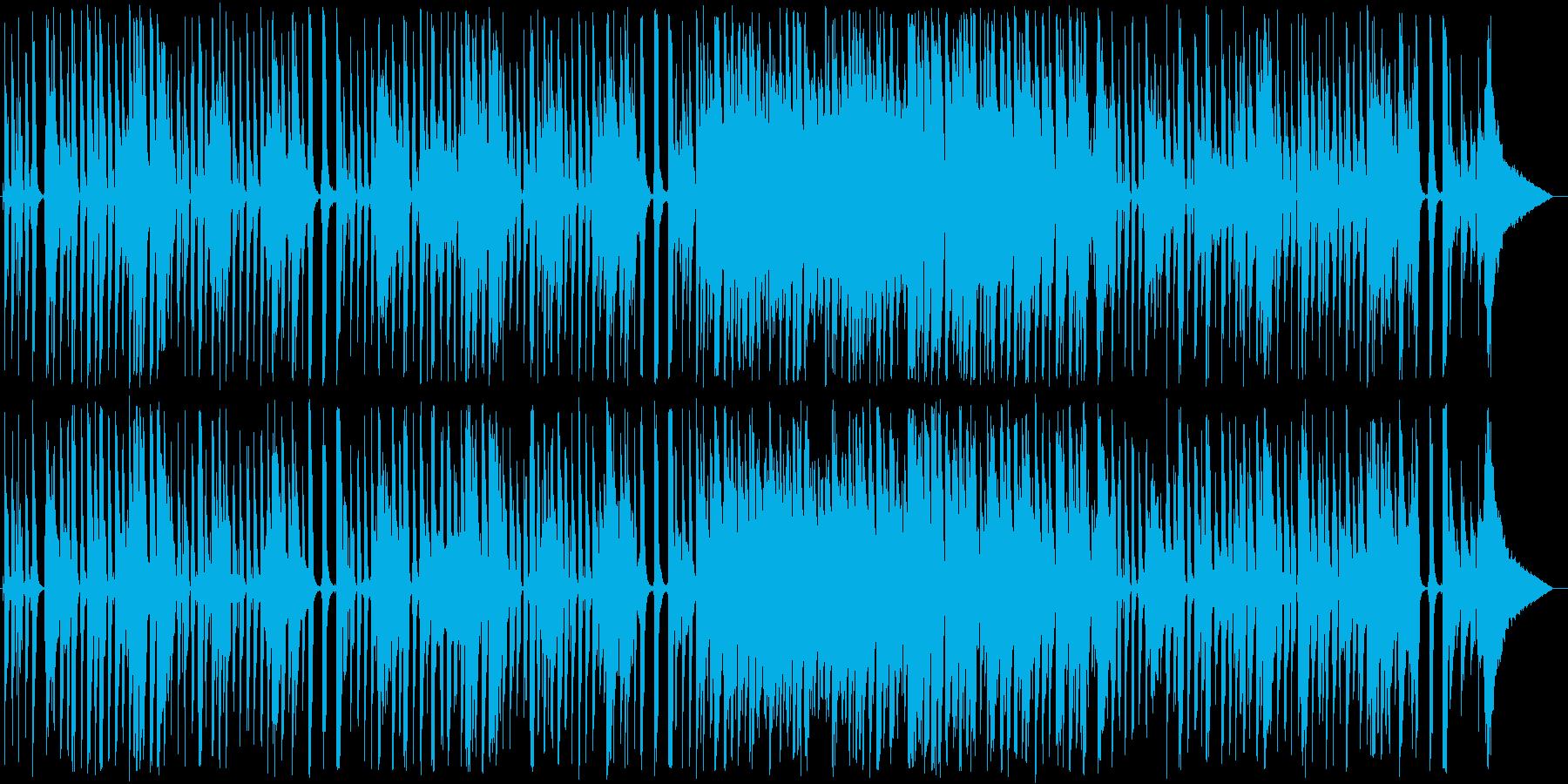 スイングジャズ風ガットギターポップスの再生済みの波形