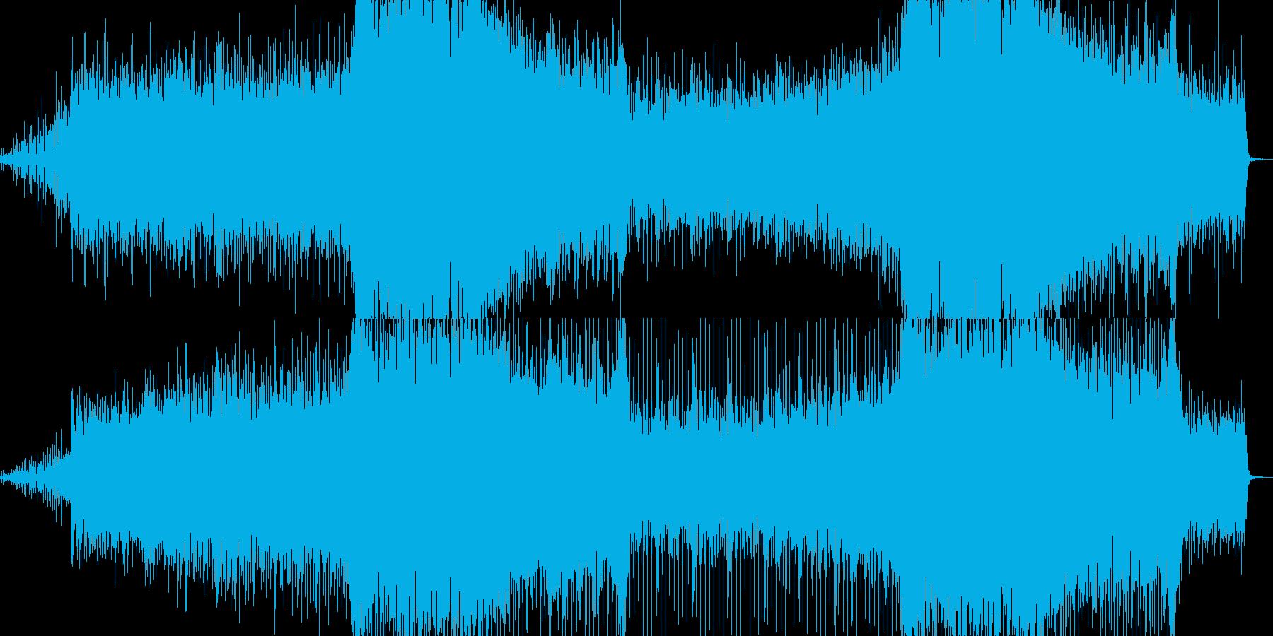 電子音にストリングスを載せた、戦闘シー…の再生済みの波形