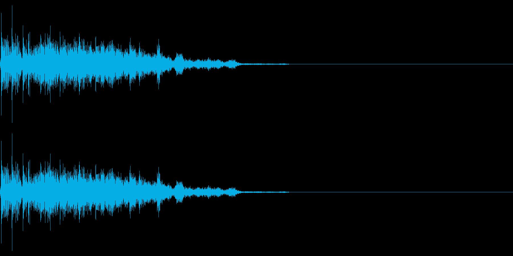 レトロゲームにありそうな ショット音の再生済みの波形
