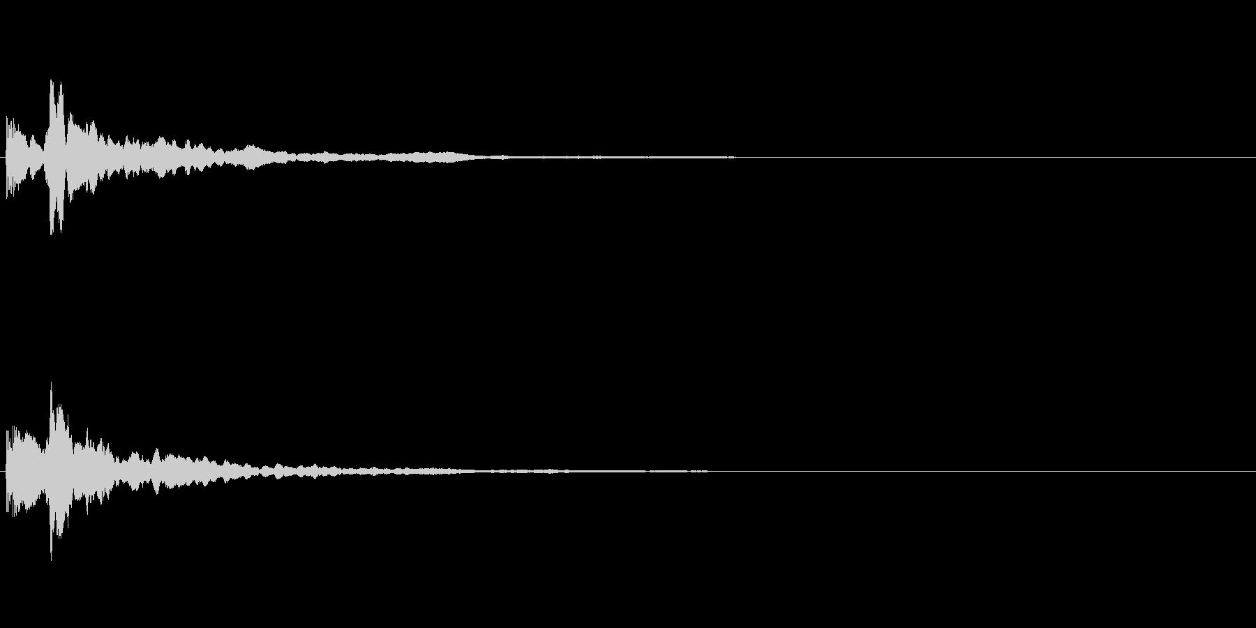 スタートボタン音01(長め)の未再生の波形