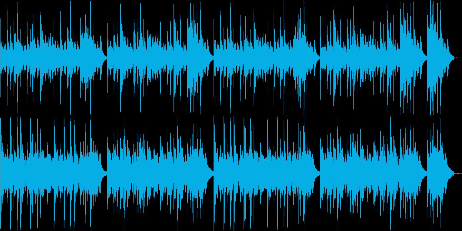 優しくスローなピアノギターなどのサウンドの再生済みの波形