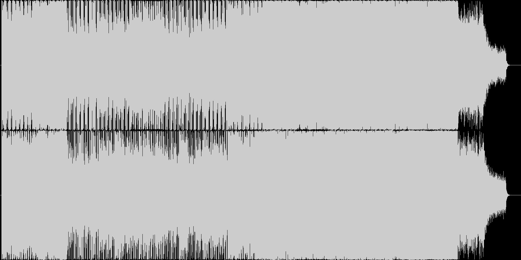 夜空の下で疾走するような感じのBGMの未再生の波形