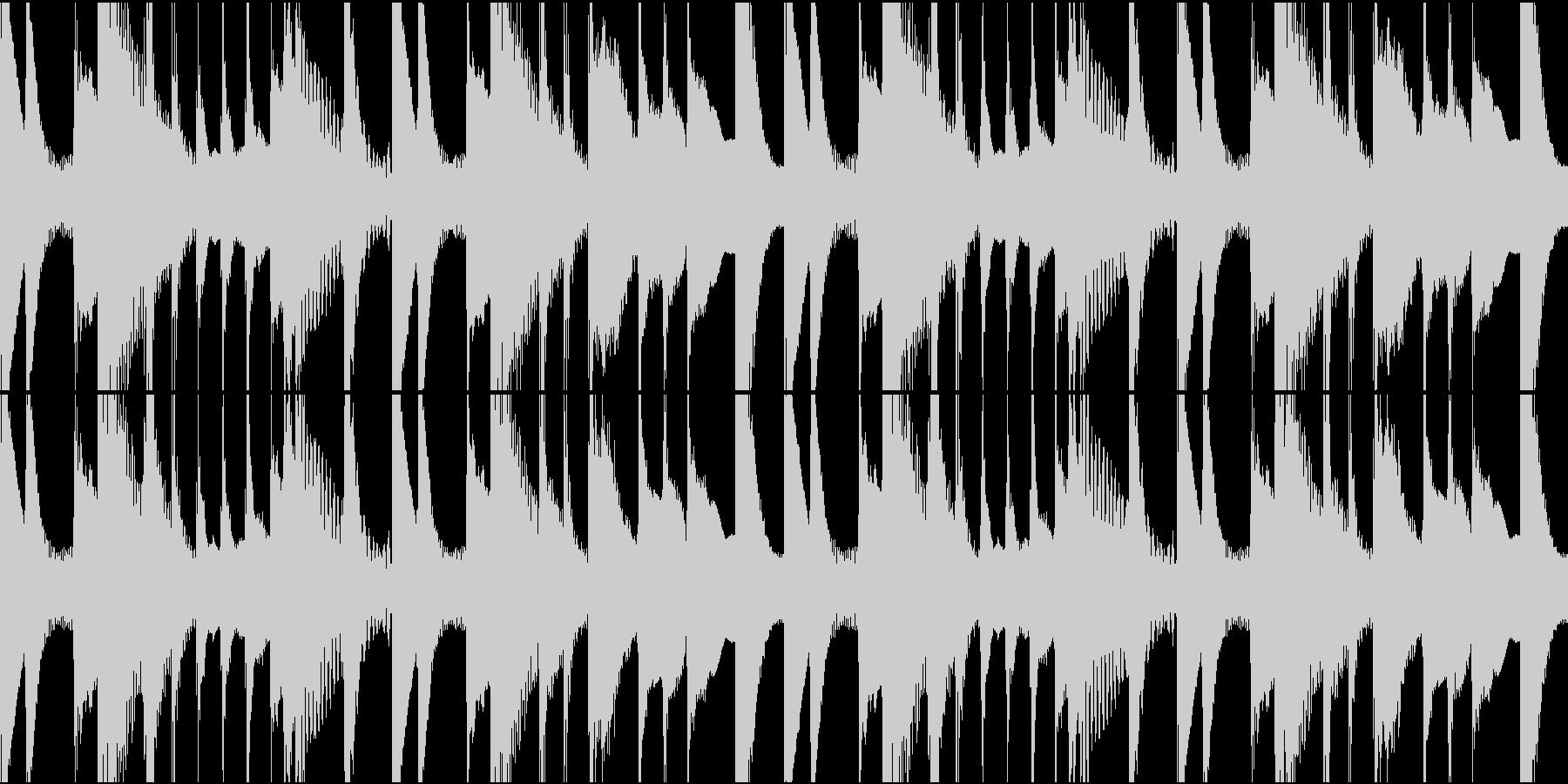 ほのぼのした日常BGMの未再生の波形