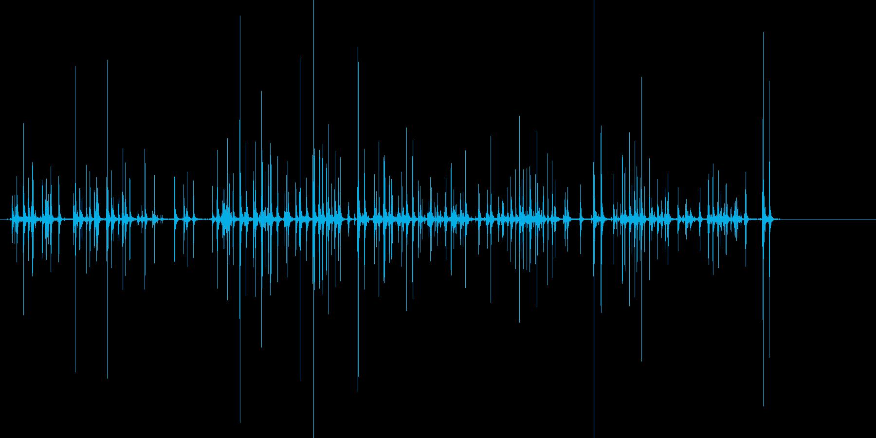 PCのキーボードをカチャカチャと叩く音…の再生済みの波形