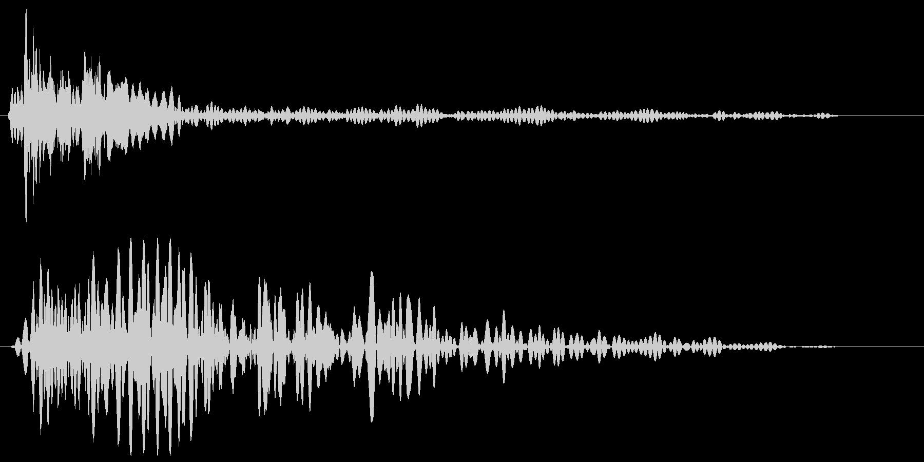チュンッ (光線系の発射音)の未再生の波形