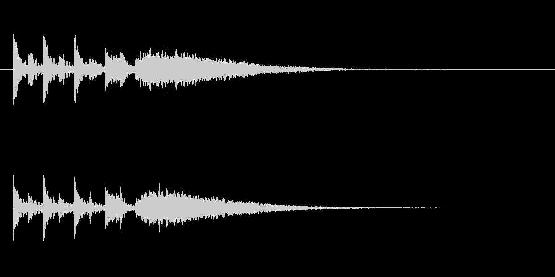 ステージクリア時の軽快なジングル2の未再生の波形