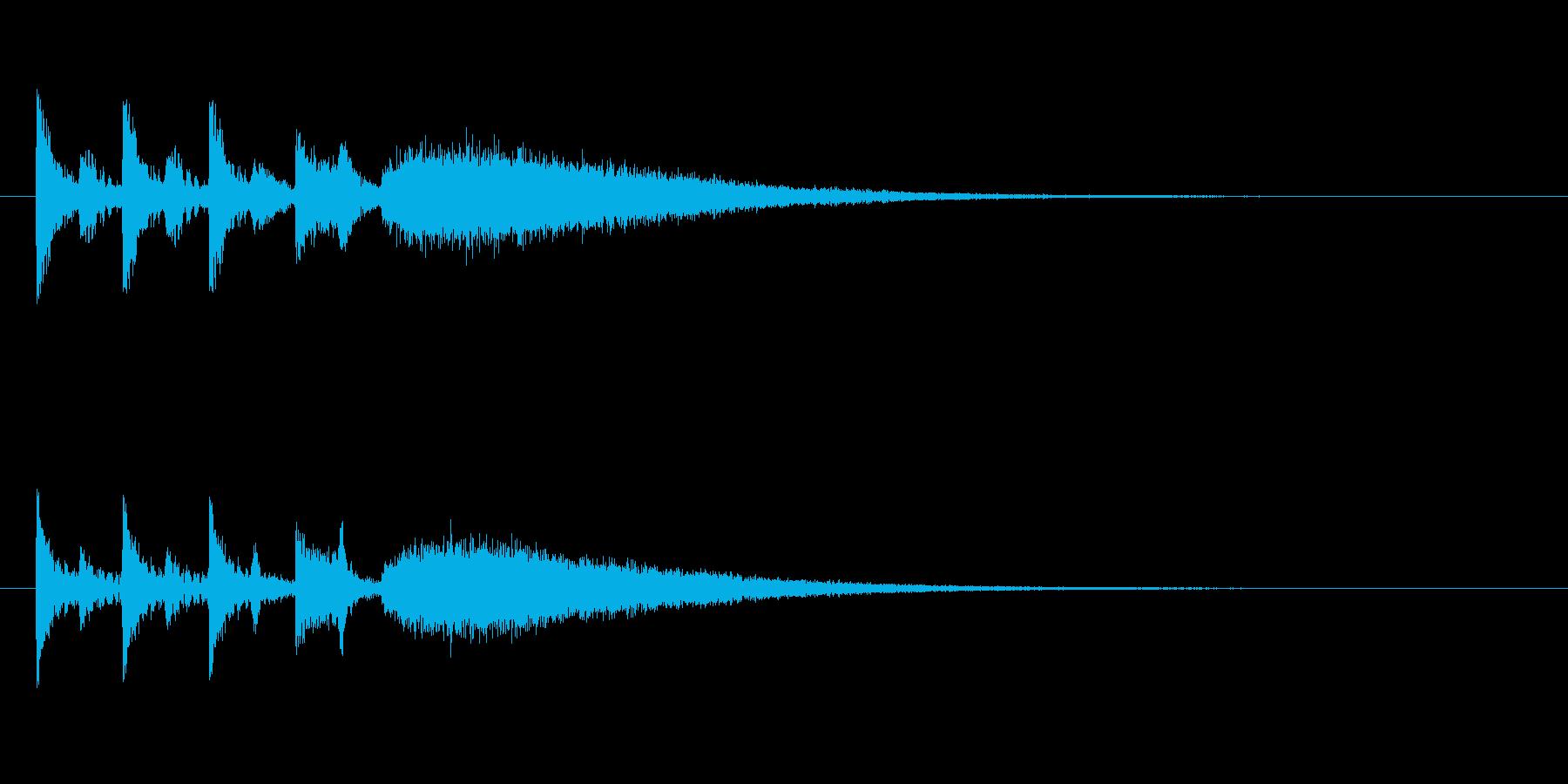 ステージクリア時の軽快なジングル2の再生済みの波形
