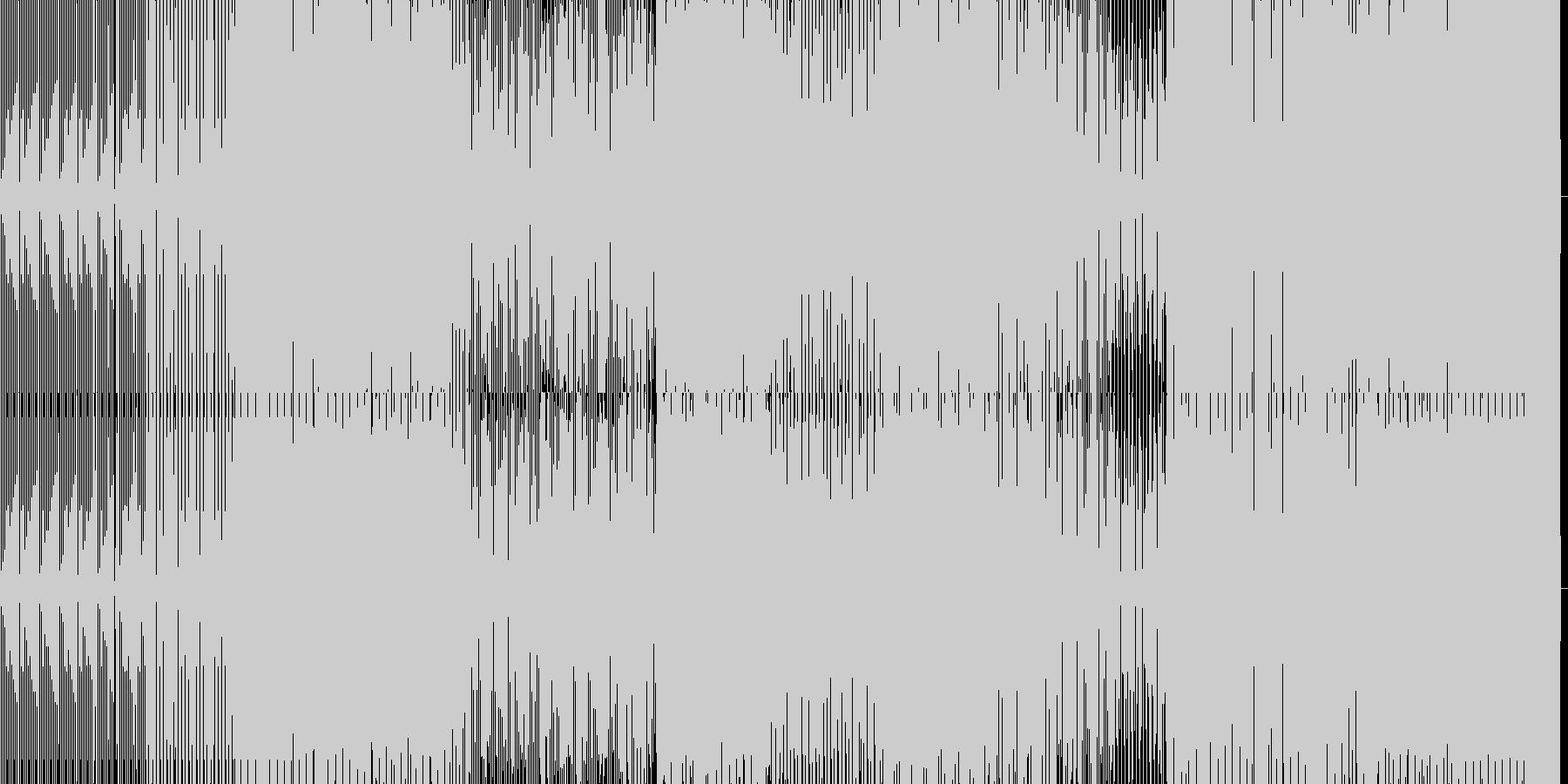 少し暗めなミニマルハウスの未再生の波形