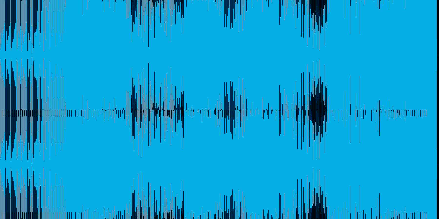 少し暗めなミニマルハウスの再生済みの波形