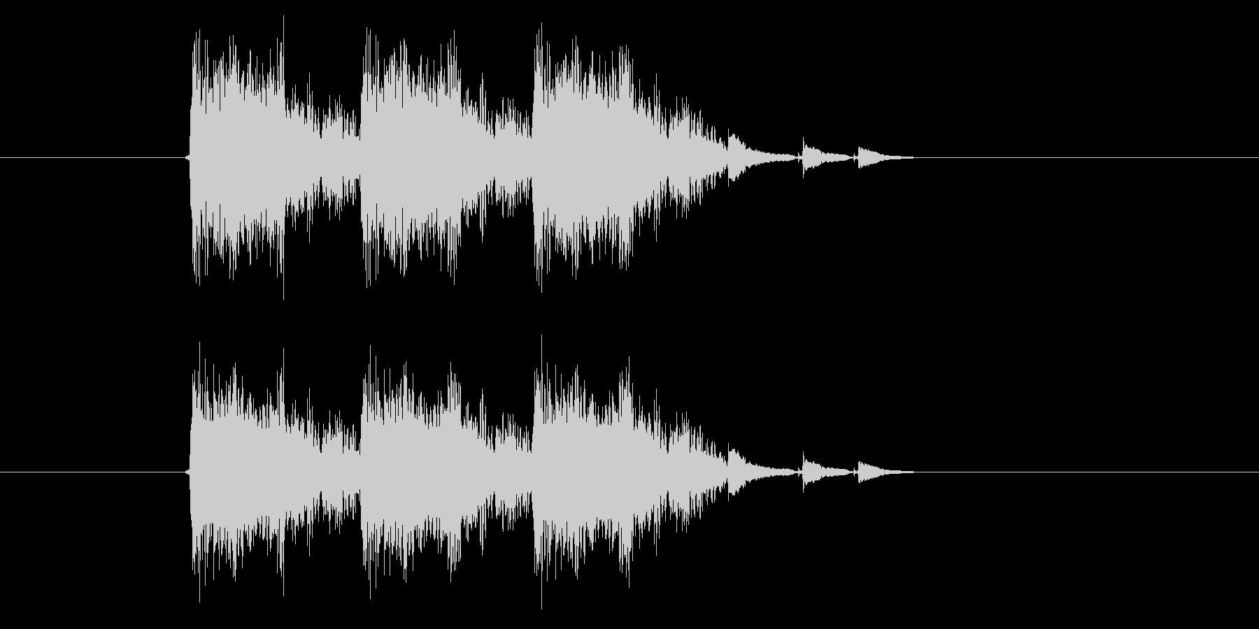 激しいポップスサウンド(番組、ジングル)の未再生の波形