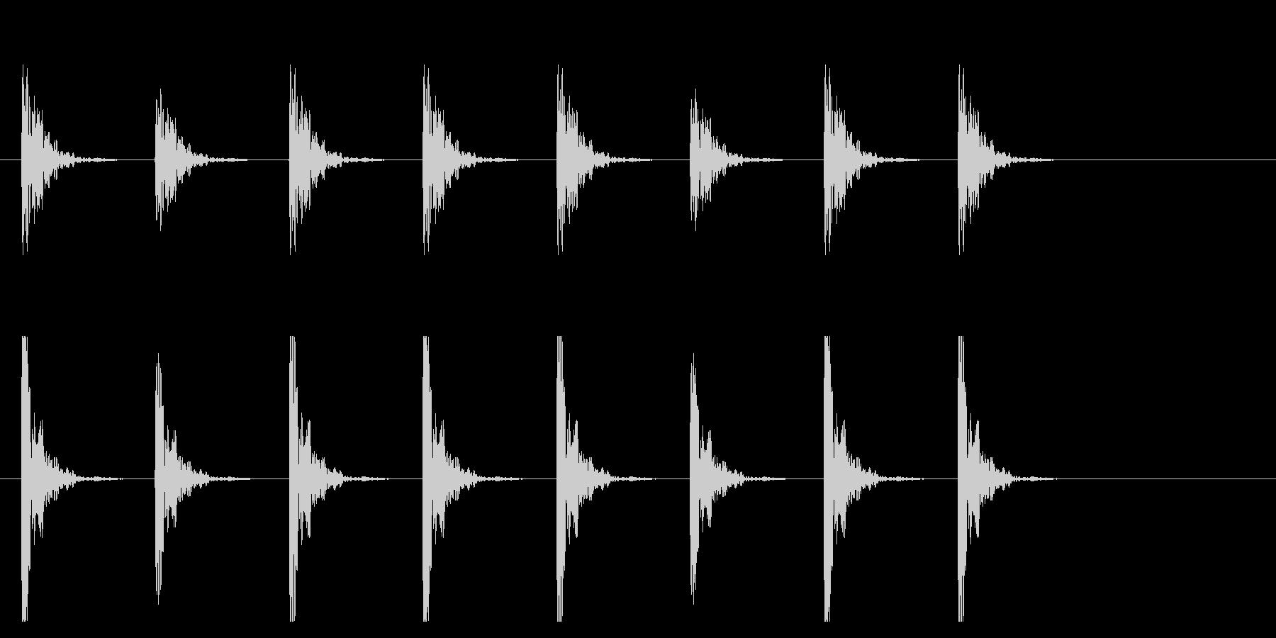 ポクポク1 木魚・シンキングタイム5秒の未再生の波形