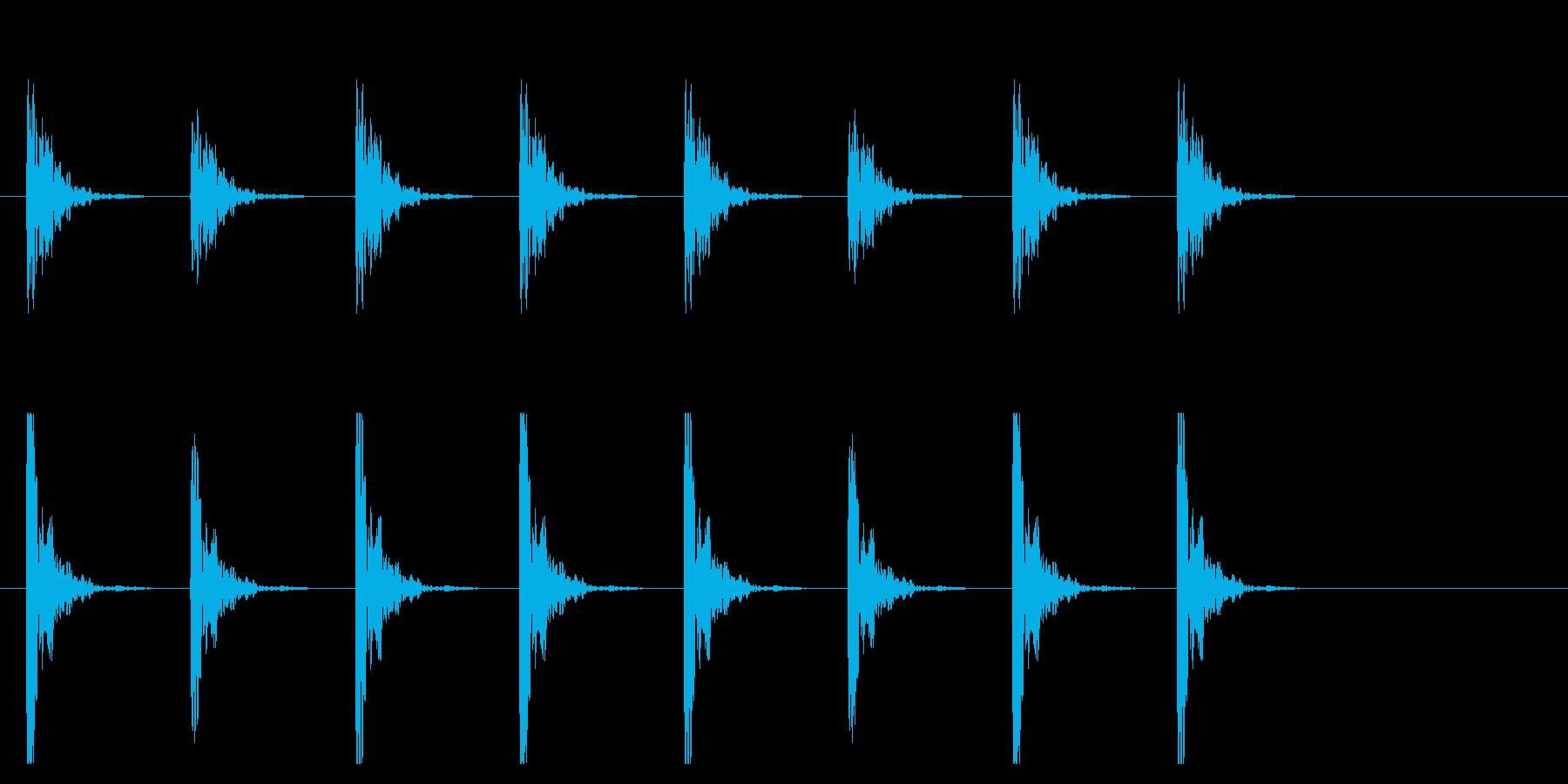 ポクポク1 木魚・シンキングタイム5秒の再生済みの波形