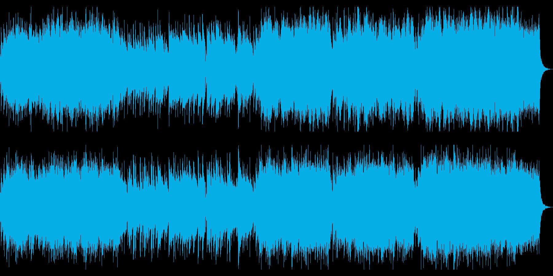 落ち着いたバロック風チェンバロのロンドの再生済みの波形