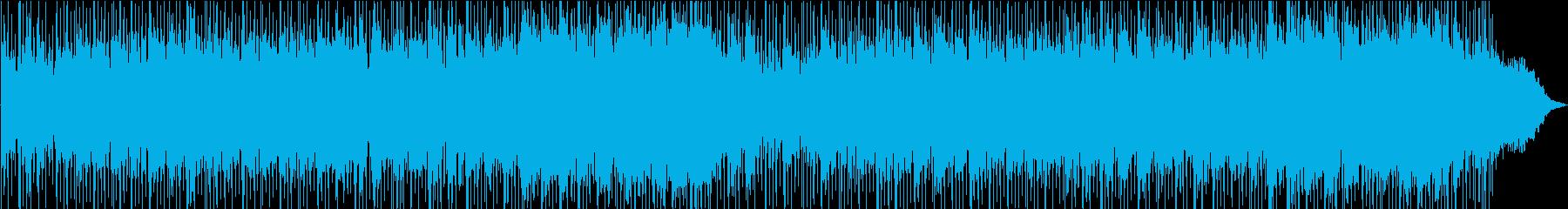 明るく爽やかな感じのBGM風の曲の再生済みの波形
