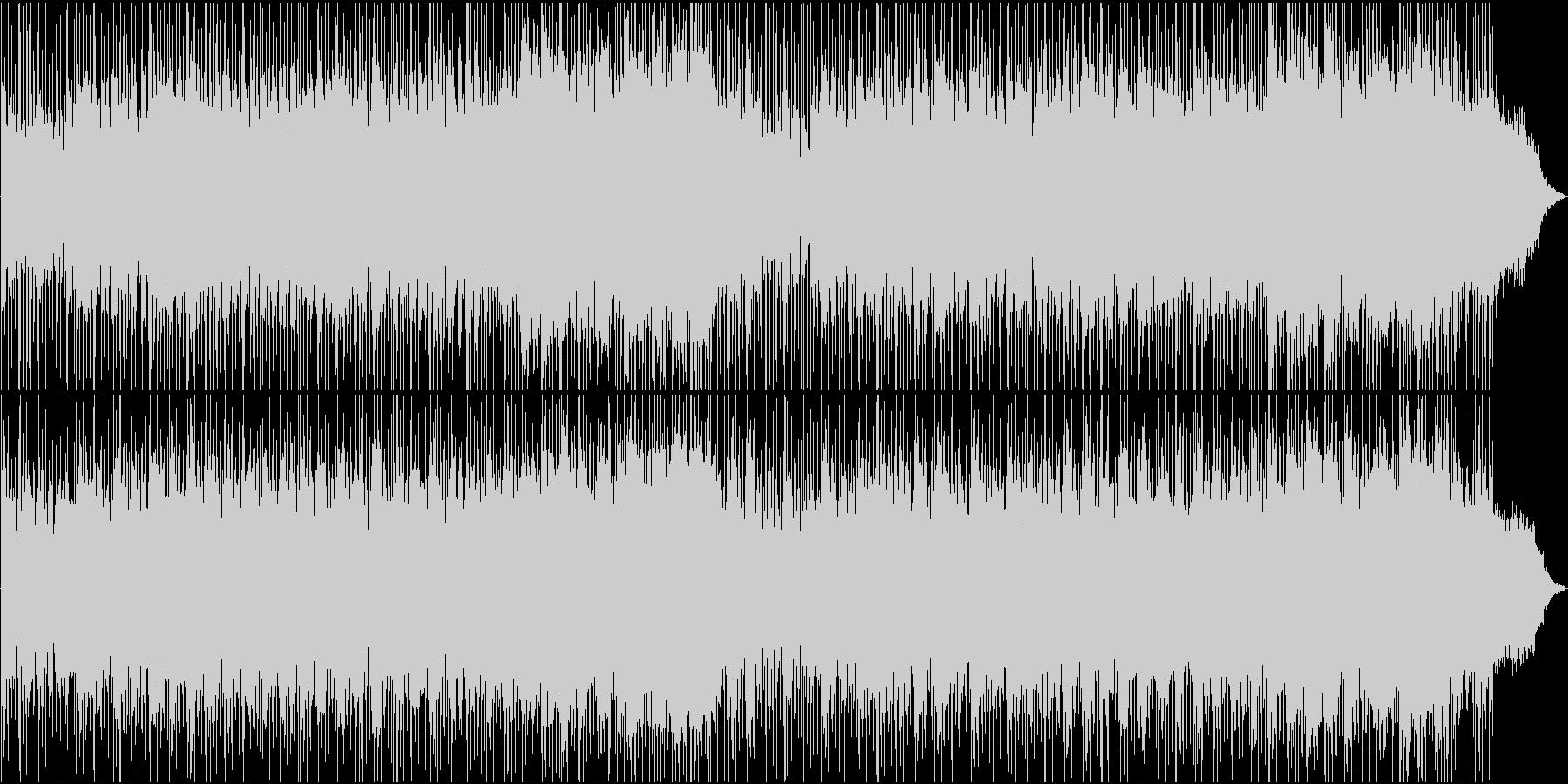 明るく爽やかな感じのBGM風の曲の未再生の波形