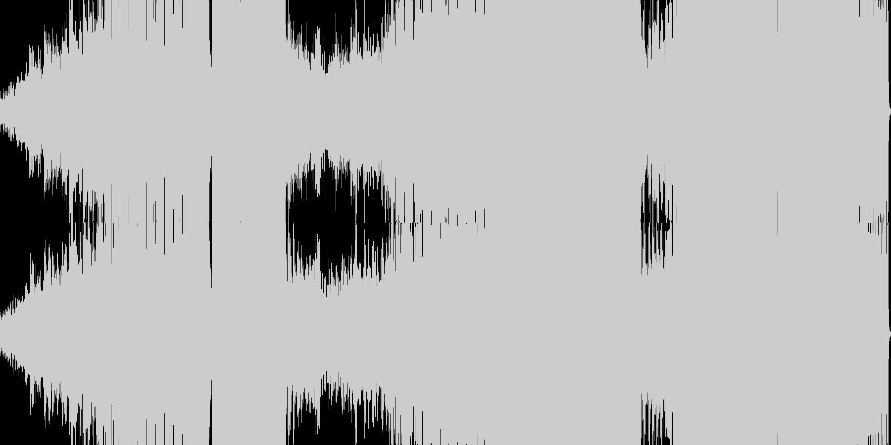 メロディアスなハウスサウンドの未再生の波形