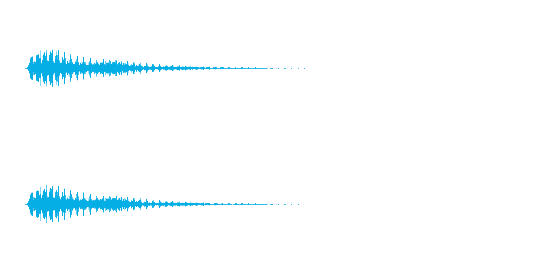 【ショートブリッジ12-3】の再生済みの波形