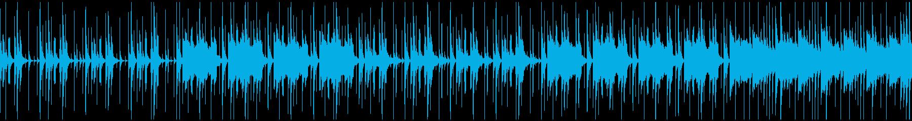 ほのぼの・軽快なBGM(ループ)の再生済みの波形