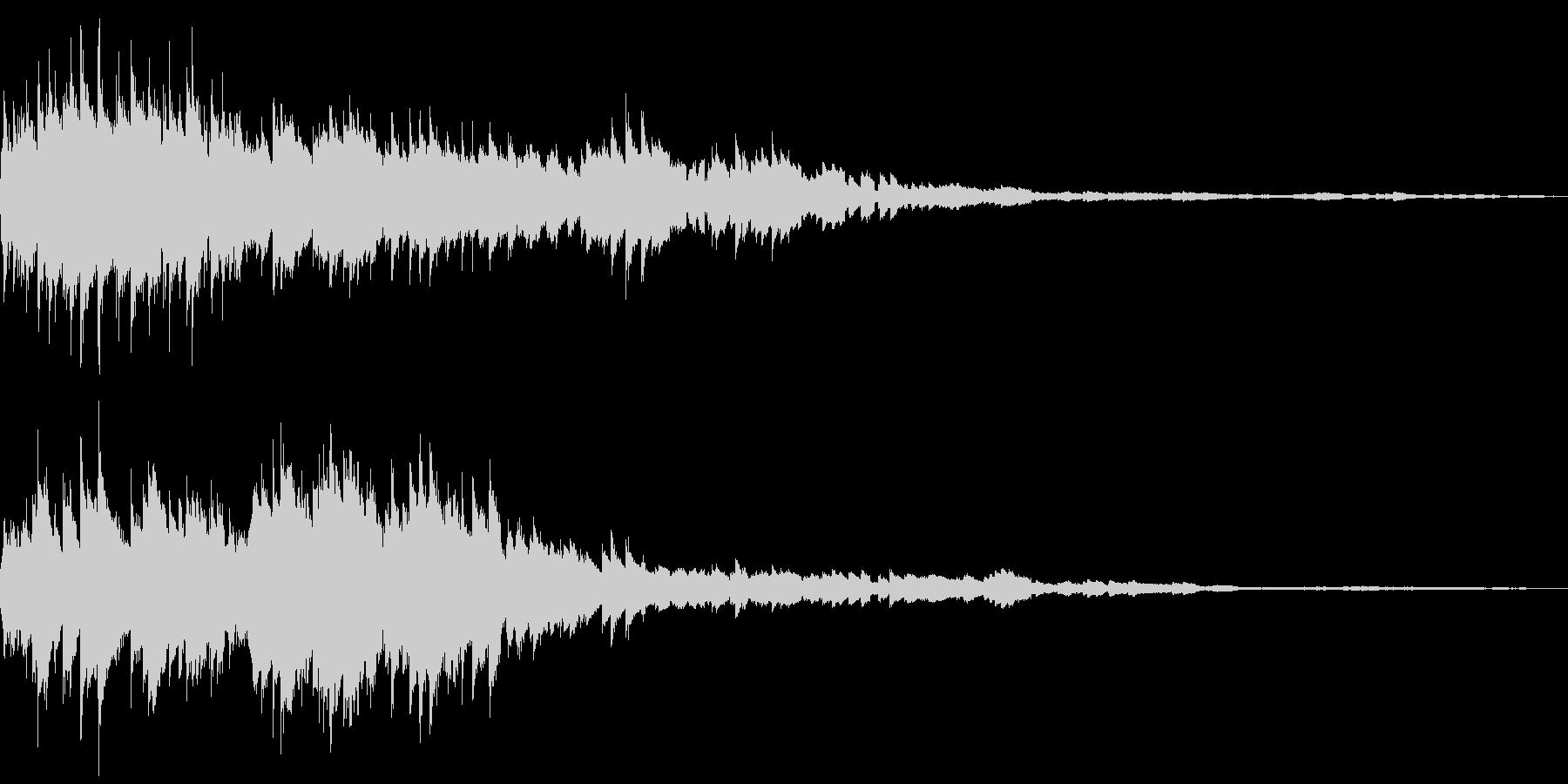 コロコロ(金属の玉を転がす音)の未再生の波形