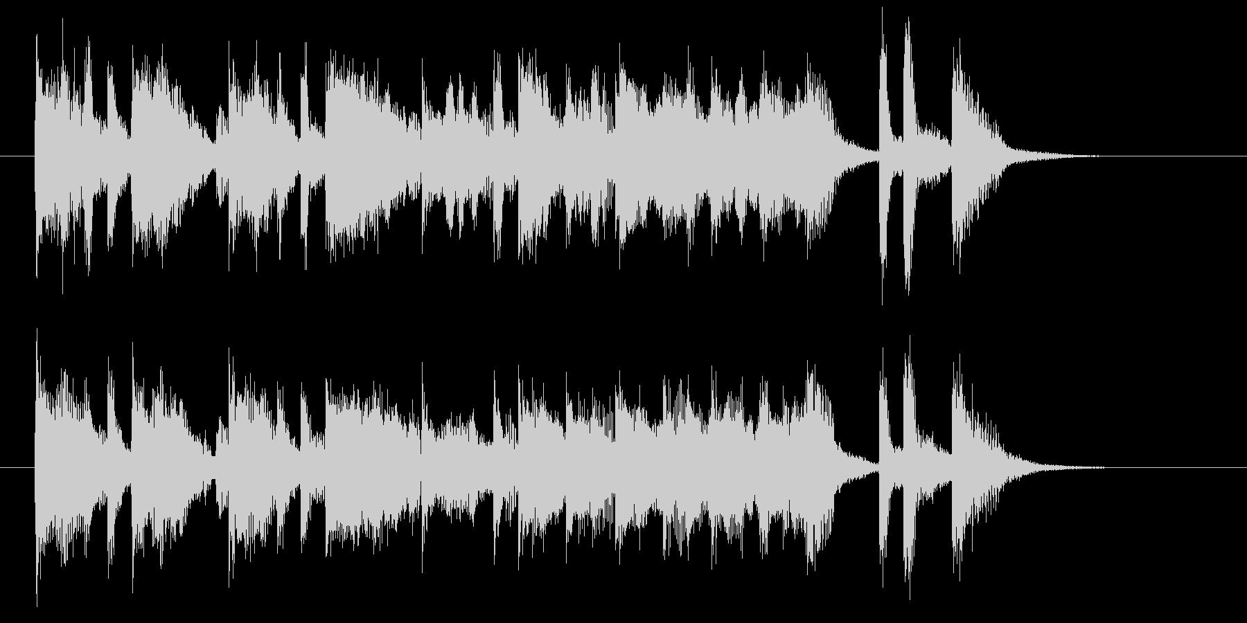 伸びやかなトランペットが印象的なBGMの未再生の波形